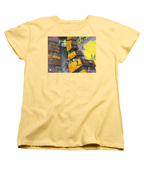 Rooftops Women's T-Shirt (Standard Cut) by Mikhail Zarovny