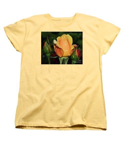 Rose Bud Women's T-Shirt (Standard Cut) by Elvira Ladocki
