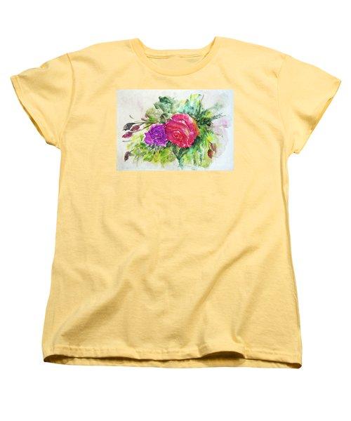 Roses For You Women's T-Shirt (Standard Cut) by Jasna Dragun