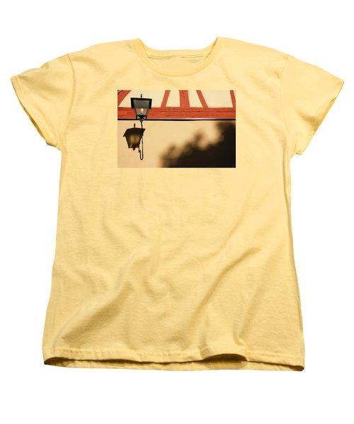 Women's T-Shirt (Standard Cut) featuring the photograph Rotenburg Lantern by KG Thienemann