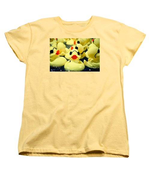 Rubber Duckie Women's T-Shirt (Standard Cut) by Colleen Kammerer