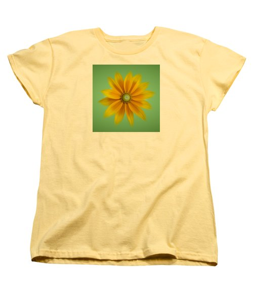 Women's T-Shirt (Standard Cut) featuring the photograph Rudbeckia Blossom Irish Eyes - Square by Patti Deters