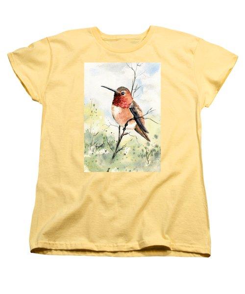 Rufous Hummingbird Women's T-Shirt (Standard Cut) by Sam Sidders