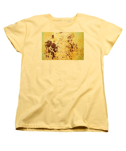 Women's T-Shirt (Standard Cut) featuring the photograph Rust Metal by John Williams