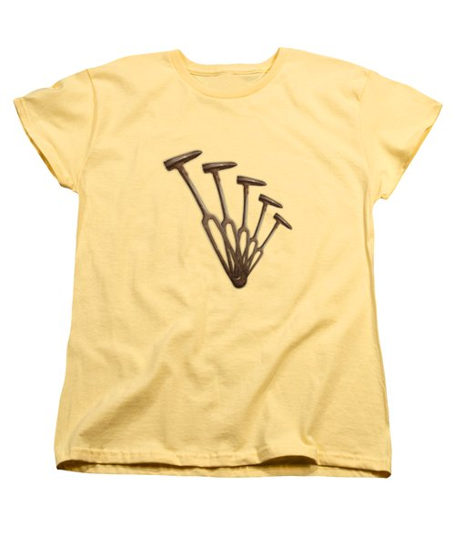 Rustic Hammer Pattern Women's T-Shirt (Standard Cut) by YoPedro