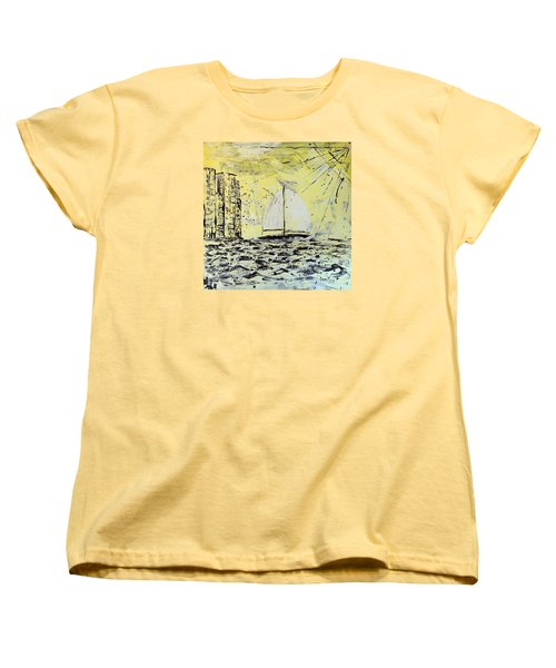 Sail And Sunrays Women's T-Shirt (Standard Cut) by J R Seymour