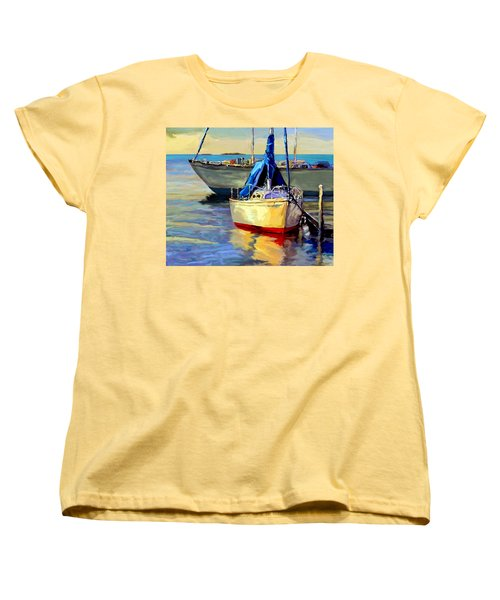 Women's T-Shirt (Standard Cut) featuring the painting Sails At Rest by David  Van Hulst