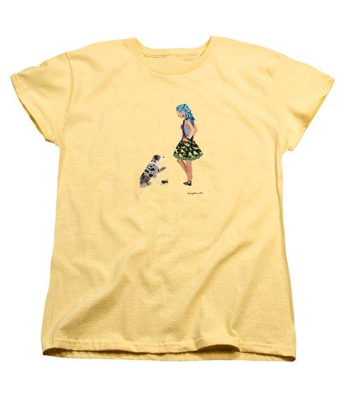 Women's T-Shirt (Standard Cut) featuring the digital art Samantha by Nancy Levan