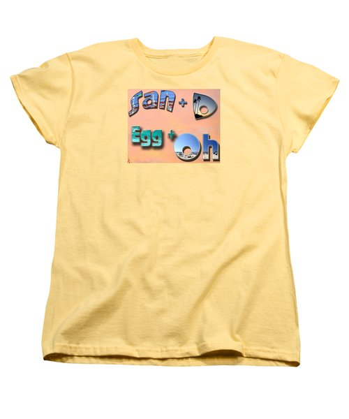 San D Egg Oh Women's T-Shirt (Standard Cut) by Christopher Woods