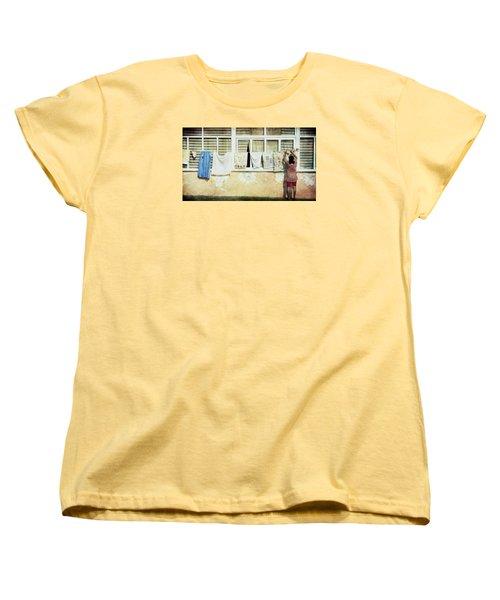 Scene Of Daily Life Women's T-Shirt (Standard Cut) by Vittorio Chiampan