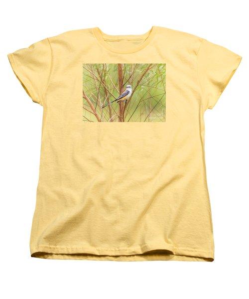 Women's T-Shirt (Standard Cut) featuring the photograph Scissortail In Scrub by Robert Frederick