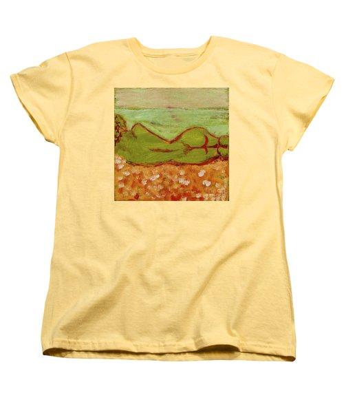 Seagirlscape Women's T-Shirt (Standard Cut) by Paul McKey