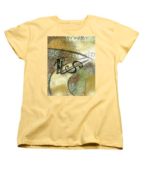 Searching For Potential Profit Women's T-Shirt (Standard Cut) by Leon Zernitsky