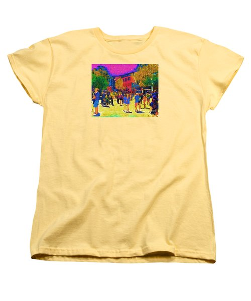 Seattle Street Scene Women's T-Shirt (Standard Cut) by Kirt Tisdale