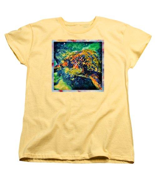 Sebastian The Turtle Women's T-Shirt (Standard Cut) by Erika Swartzkopf
