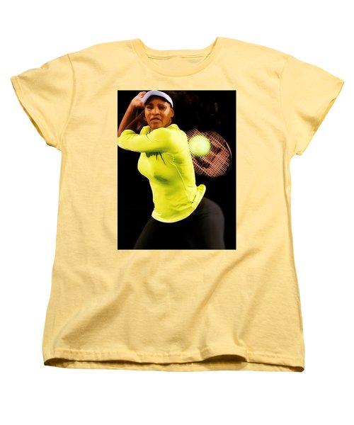 Serena Williams Bamm Women's T-Shirt (Standard Cut) by Brian Reaves