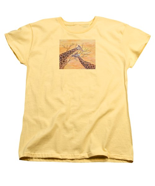 Women's T-Shirt (Standard Cut) featuring the painting Sharing by Elizabeth Lock