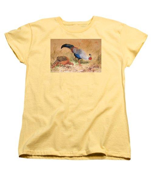 Siamese Pheasant  Women's T-Shirt (Standard Cut) by Joseph Wolf