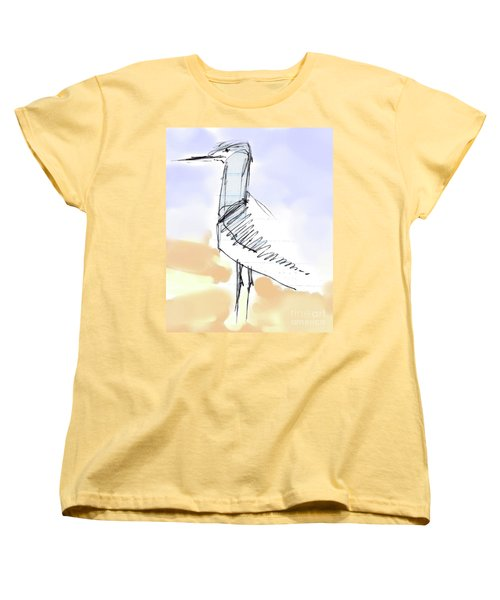 Women's T-Shirt (Standard Cut) featuring the drawing Simon by Carolyn Weltman