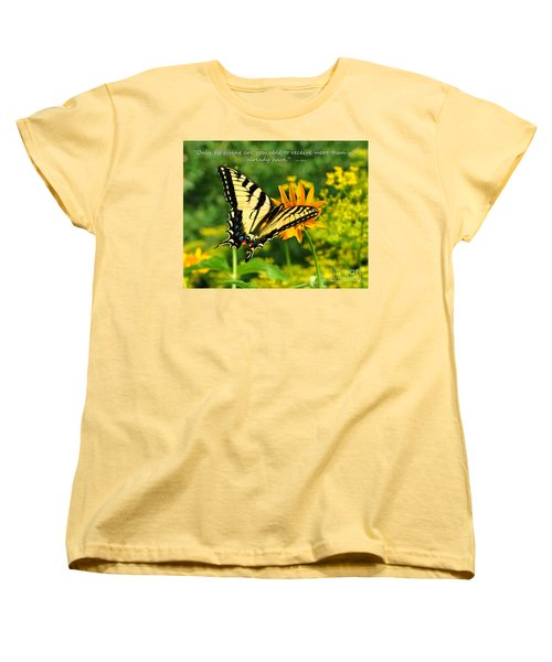 Women's T-Shirt (Standard Cut) featuring the photograph Sitting Pretty Giving by Diane E Berry