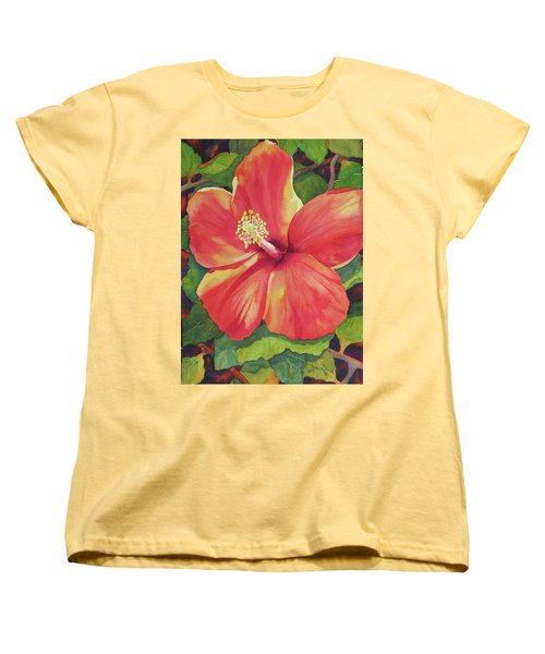 Women's T-Shirt (Standard Cut) featuring the painting Sizzle by Judy Mercer