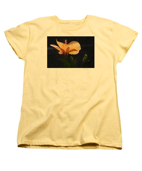 Skc 9937 The Grace Of Hibiscus Women's T-Shirt (Standard Cut) by Sunil Kapadia