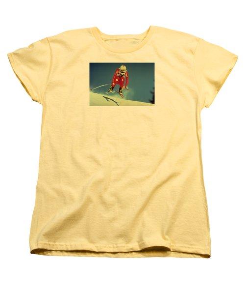 Skiing In Crans Montana Women's T-Shirt (Standard Cut)