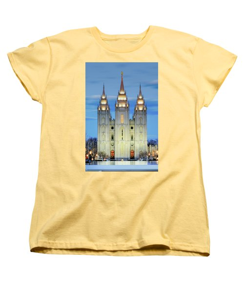 Slc Temple Blue Women's T-Shirt (Standard Fit)