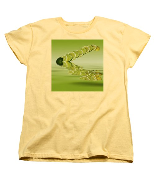 Women's T-Shirt (Standard Cut) featuring the photograph Slices Lemon Lime Citrus Fruit by David French