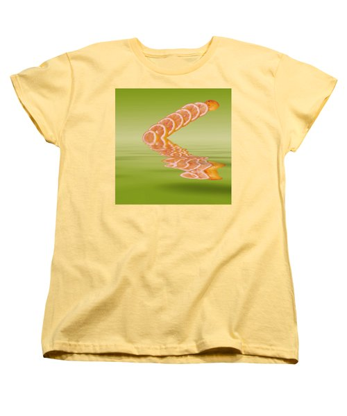 Women's T-Shirt (Standard Cut) featuring the photograph Slices Pink Grapefruit Citrus Fruit by David French