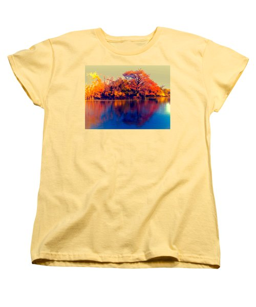 Women's T-Shirt (Standard Cut) featuring the digital art Smoke Signals by Wendy J St Christopher