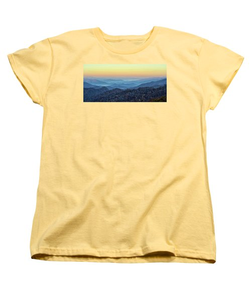 Smoky Mountains Women's T-Shirt (Standard Cut) by Nancy Landry