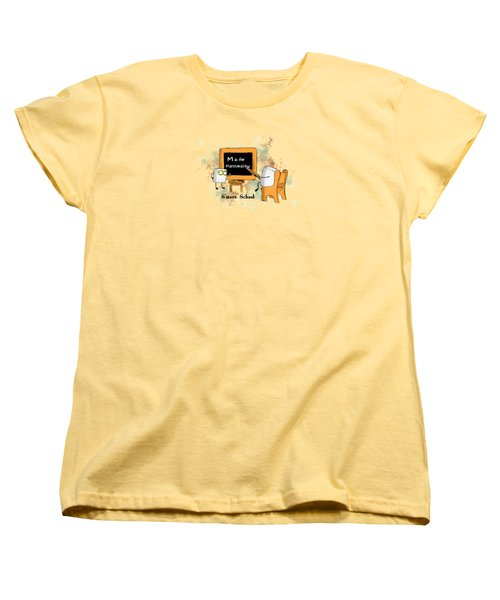 Women's T-Shirt (Standard Cut) featuring the digital art Smore School Illustrated by Heather Applegate