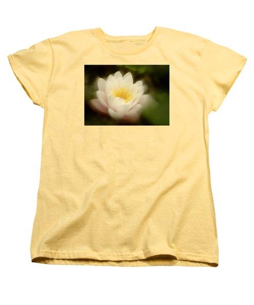 Women's T-Shirt (Standard Cut) featuring the photograph Soft Water Lily by Richard Cummings