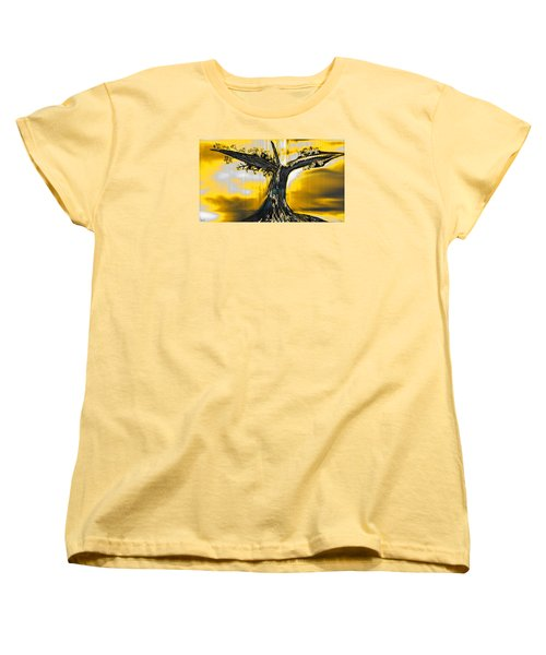 Women's T-Shirt (Standard Cut) featuring the digital art Solitude by Yul Olaivar