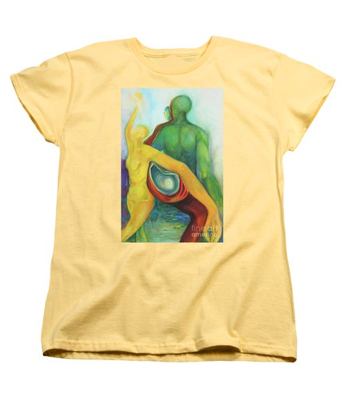 Women's T-Shirt (Standard Cut) featuring the painting Source Keepers by Daun Soden-Greene