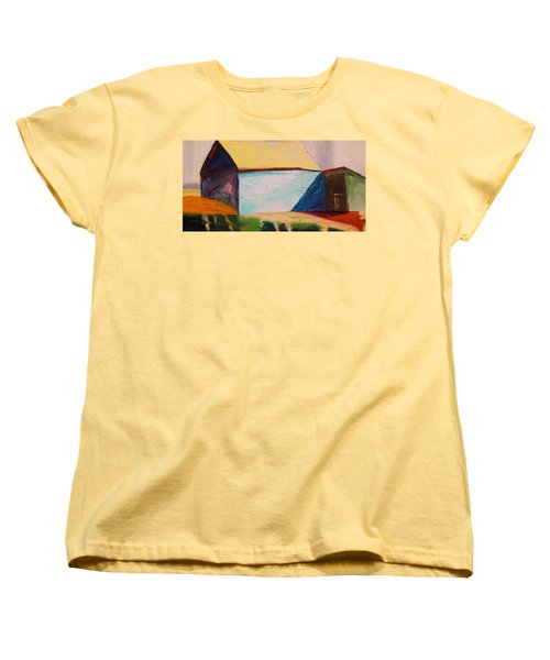 Women's T-Shirt (Standard Cut) featuring the painting Southern Barn by John Williams