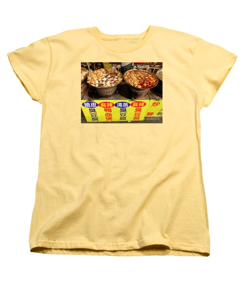 Women's T-Shirt (Standard Cut) featuring the photograph Spicy And Herbal Hot Pot Food by Yali Shi