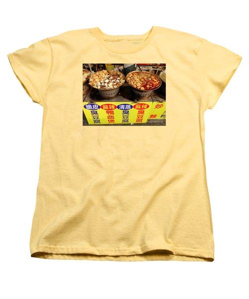 Spicy And Herbal Hot Pot Food Women's T-Shirt (Standard Cut) by Yali Shi