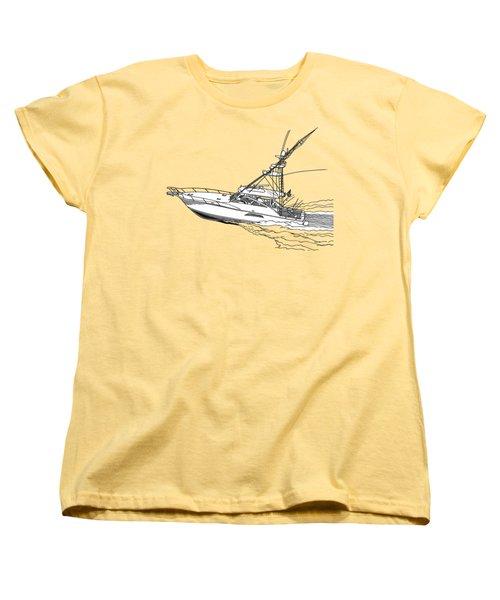 Sportfish Yacht Custom Tee Shirt Women's T-Shirt (Standard Cut) by Jack Pumphrey