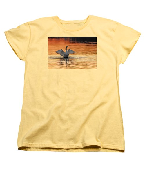 Spreading Her Wings In Gold Women's T-Shirt (Standard Cut) by Randall Branham