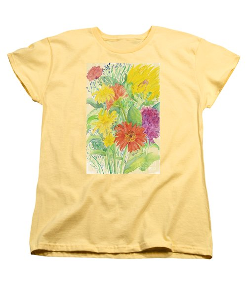Women's T-Shirt (Standard Cut) featuring the painting Spring Bouquet  by Vicki  Housel