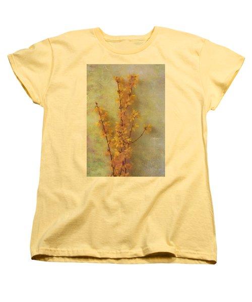 Spring Forsythia Women's T-Shirt (Standard Cut) by Catherine Alfidi