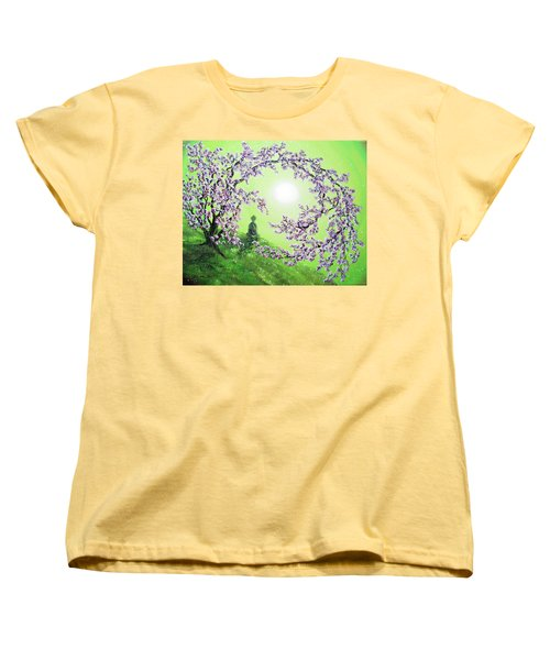 Spring Morning Meditation Women's T-Shirt (Standard Cut) by Laura Iverson