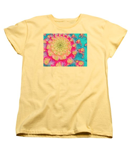 Women's T-Shirt (Standard Cut) featuring the digital art Spring On Parade 2 by Bonnie Bruno