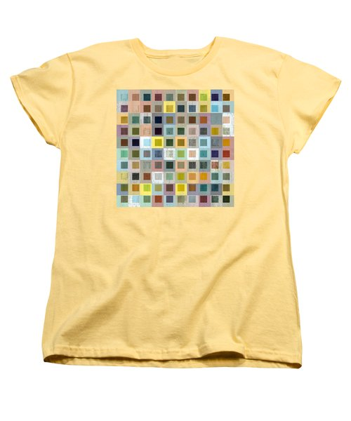 Women's T-Shirt (Standard Cut) featuring the digital art Squares In Squares Three by Michelle Calkins