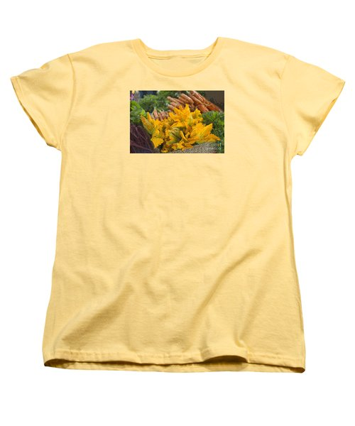 Women's T-Shirt (Standard Cut) featuring the photograph Squash Blossoms by Jeanette French