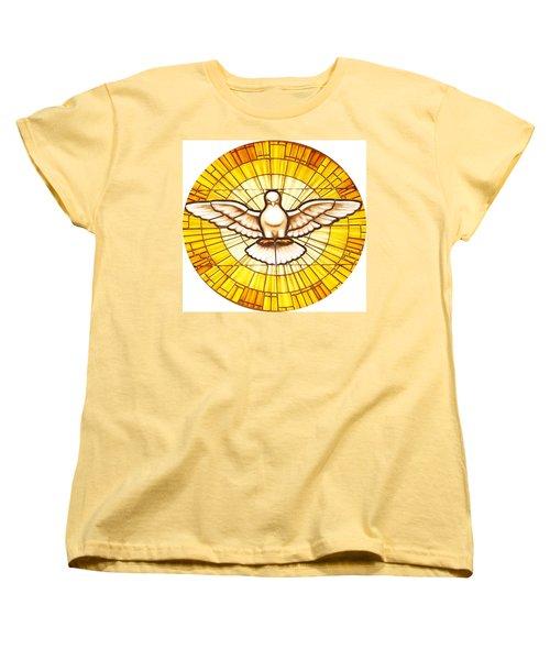 Stain Glass Dove Women's T-Shirt (Standard Cut) by Joseph Frank Baraba