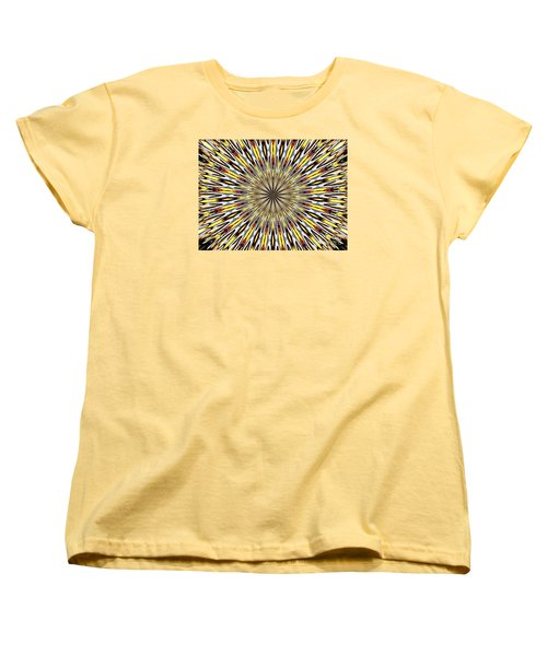 Stained Glass Kaleidoscope 22 Women's T-Shirt (Standard Cut) by Rose Santuci-Sofranko