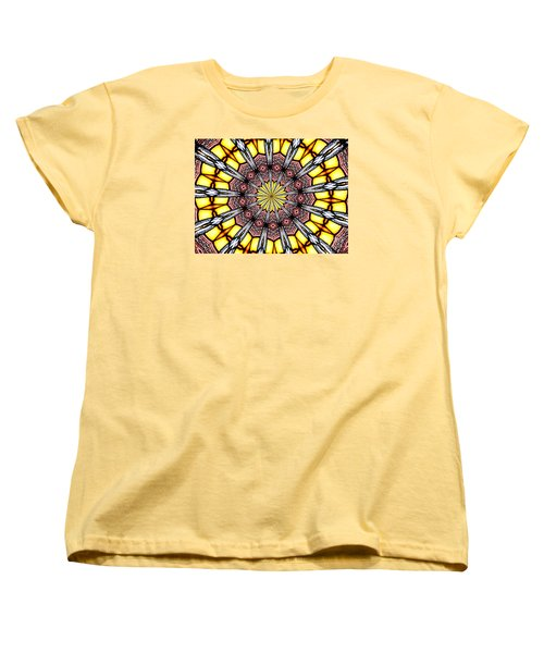 Stained Glass Kaleidoscope 23 Women's T-Shirt (Standard Cut) by Rose Santuci-Sofranko